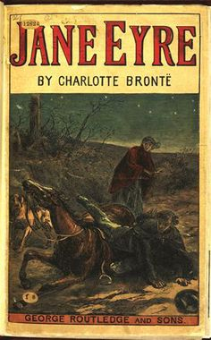 Jane Eyre by Charlotte Bronte Jane Eyre, Victorian Literature, Charlotte Bronte, Vintage Book Covers, Vintage Books, Frames For Canvas Paintings, Affordable Wall Art, Cool Posters, Buy Posters