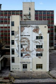 """Artist : Vhils """"Dissection // Opening on the 4th of July at EDP Foundation //"""