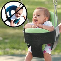 These are great for bouncers, exersaucers, and park swings. Was able to put my babies in swings and bouncers much earlier.
