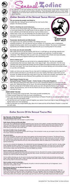 Sensual Zodiac: Taurus. #womenstaboo