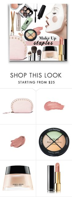 """""""199. Makeup Bag Essentials"""" by milva-bg ❤ liked on Polyvore featuring beauty, Rebecca Minkoff, Chanel, Victoria's Secret, Youngblood, Isadora, Giorgio Armani and Revlon"""