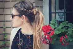 Braid & Ombre Ponytail - Hairstyles and Beauty Tips