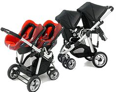 These #double #strollers are nice and compact and still have plenty of storage underneath.