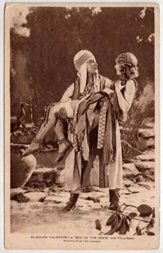 """Rudolph Valentino and Vilma Banky in """"Son of the Sheik"""" 1926"""