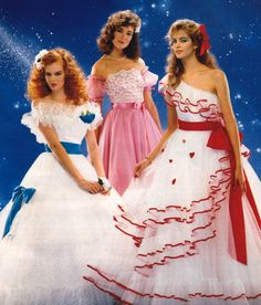 OMGosh!!!! I found it!!!! I found my dress from 1984! Mine was the white with the turquoise accents. AAAAHHH!!!! Flirtations, Seventeen magazine, March 1984.
