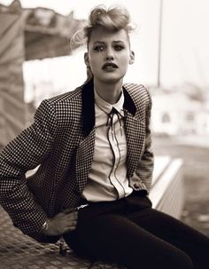 Teddy girl look Teddy Girl, Teddy Boys, Teddy Boy Style, Moda Rockabilly, Style Rockabilly, Rockabilly Fashion, 1950s Fashion, Girl Fashion, Vintage Fashion