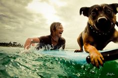 Gotta love man's best friend and the joy of the ocean  From FySurf Picture by Sarah Lee