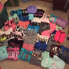 """MY VS SWEATSHIRT COLLECTION NFS; just showing! If you see one you have to have lmk & I MAY sell! Ones I will absolutely NOT sell: white """"go pink or go home""""(it is available online rn) tie dye crew, Aztec printed zip ups & crew, pink marl half zip, cheetah crews PINK Victoria's Secret Other"""
