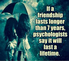 I think this is true about me and my best friend