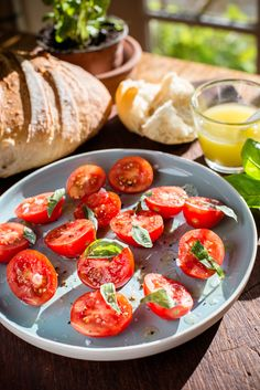 Summertime Tomato Salad with Ballymaloe French Dressing Tomato Salad, Caprese Salad, Vegan Gluten Free, Vegan Vegetarian, Tomato Vine, French Dressing, Tomatoes, Summertime, Salads