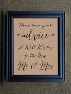 Wedding Day Signage Advice for the Bride and by SAEdesignstudio, $4.99