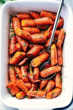 Roasted Brown Butter Honey Garlic Carrots make an excellent side dish.  Roasted to tender perfection in the most incredible brown ...