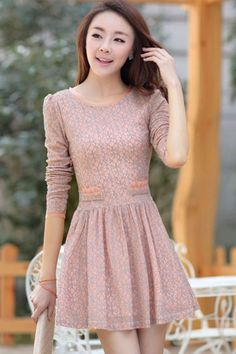 Gorgeous Floral Long Sleeves Dress