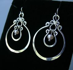 Sterling silver and pearls ECLIPSE handcrafted by Almendro on Etsy, $38.00