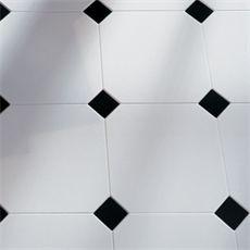Lhådös Cosmo Kakel Oktagon - Rutigt kakel svart och vitt 15x15 cm
