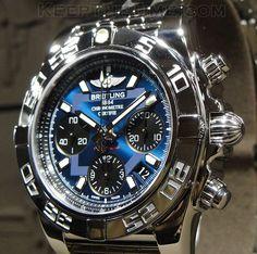 Nice silver-ish black and blue watch. Would like nice for men and women, but mostly men. ...repinned für Gewinner!  - jetzt gratis Erfolgsratgeber sichern www.ratsucher.de