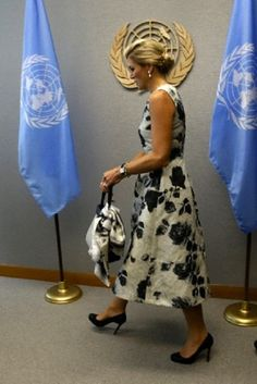 Her Majesty Queen Maxima of the Netherlands arrives for her meeting with UN Secretary General Ban ki-moon during the 68th session of the UN General Assembly at UN headquarters in New York, USA, 24.09.13