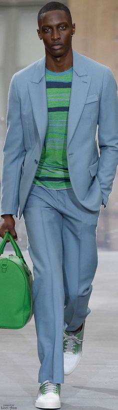 Berluti Spring 2016 | Men's Fashion | Menswear | Light Blue Suit | Moda Masculina | Shop at designerclothingfans.com