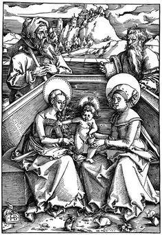 Baldung Grien, Hans: Die Hl. Sippe mit den Hasen c.1510