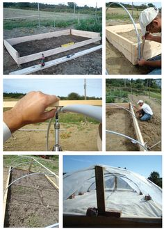 Constructing a hoop house