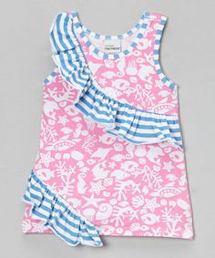 Take a look at this Pink Fantasea Reef Rolling Ruffle Top - Infant, Toddler & Girls by Flap Happy on #zulily today!
