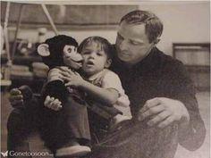 Marlon Brando with son Christian
