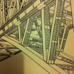 A smaller section of a drawing of Sydney harbour bridge in place of Fremantle road/rail bridges...although it's SOR I still like Fremantle; it deserves a nice entrance hahaha #perthisok #sydneyharbourbridge #sydney #perth #fremantle #freehand #dailysketch #ink #uponhaystudio by _lee_kimura http://ift.tt/1NRMbNv