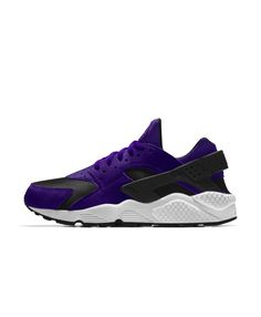best service e0d86 46949 Nike Air Huarache Essential iD Court Purple Black White Shoes Model Street  Style, Street Style