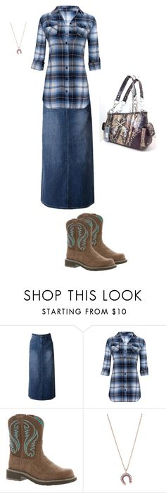 """""""sweet n' southern"""" by shoshannahmay on Polyvore featuring WithChic, Ariat, Selim Mouzannar and Montana West"""