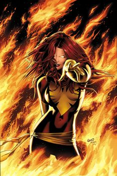 The Top Ten Beautiful Women of Comics - Jean Grey - Phoenix