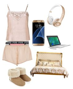 Golden Dreams by steven-christian on Polyvore featuring polyvore, fashion, style, Mes Demoiselles..., Asceno, Victoria's Secret, Accessorize, French Heritage, Beats by Dr. Dre, Samsung, Microsoft and clothing
