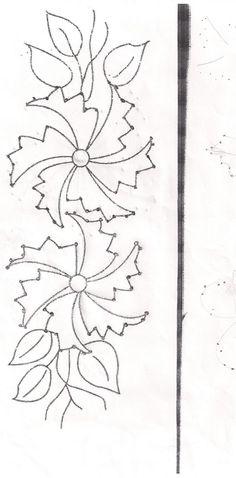 Como prometi na última postagem, disponibilizo alguns riscos e imagens de trabalhos onde a técnica do Kamal Kadai foi usada. Para usar os...