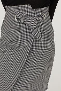 Юбка-карандаш с рисунком - Белый/Гусиная лапка - Женщины | H&M RU