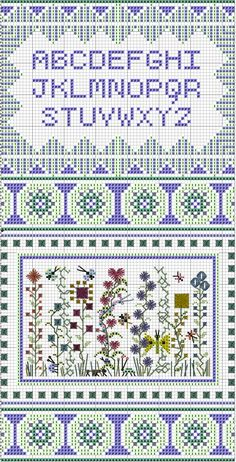 A Teeny Garden Sampler, designed by Remy Lawler, blogger for Emdroiderbee's Primary Hive.