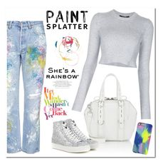 """Paint Splatter"" by christinacastro830 ❤ liked on Polyvore featuring Rialto Jean Project, Alexander Wang, Tod's, Derek Lam and paintsplatter"