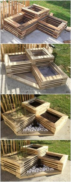 Astonishing Creations Made Out of Shipping Pallets Diy Pallet Projects Astonishing Creations Pallets Shipping Pallet Garden Furniture, Pallets Garden, Wood Pallets, Outdoor Palette Furniture, Wooden Furniture, Furniture Ideas, Diy Garden Seating, Garden Yard Ideas, Wooden Pallet Projects