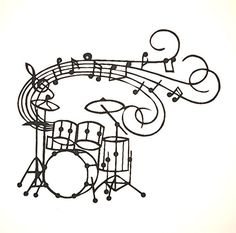 32 New Ideas Music Tattoo Drums Pictures Music Silhouette, Black Silhouette, Drum Tattoo, Band Tattoo, Trommel Tattoo, Drums Pictures, Drums Artwork, Drum Lessons For Kids, Drum Music