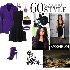 Selena purple by bluejess on Polyvore featuring moda, Issa, Alexander McQueen, Giuseppe Zanotti, West Coast Jewelry and Cushnie Et Ochs