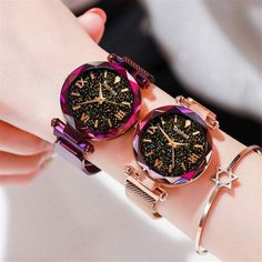 Women Watches Magnetic Starry Sky Female Clock Quartz Wristwatch Fashion Ladies Wrist Watch reloj mujer relogio feminino Luxury Women Watches Magnetic Starry Sky Female Clock Quartz Wristwatc – Center Of Treasures High End Watches, Casual Watches, Elegant Watches, Trendy Watches, Popular Watches, Nice Watches, E Commerce, Silver Pocket Watch, Beautiful Watches