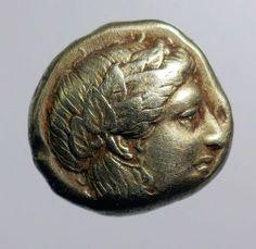 Catawiki online auction house: Greek Antiquity - Lesbos, Mytilene, Hekte, Electrum (White Gold) c377-326BC