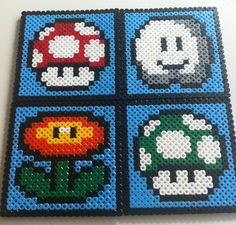 Hey, I found this really awesome Etsy listing at https://www.etsy.com/listing/162506857/hama-beads-mario-coasters