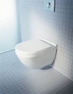 Buy the Duravit 2226090092 White Direct. Shop for the Duravit 2226090092 White Starck 3 Dual Flush Wall Mounted Elongated Toilet - Less Seat and Concealed Tank and save. Philippe Starck, Family Bathroom, Modern Bathroom, Small Bathroom, Small Bathtub, Loft Bathroom, Contemporary Bathrooms, Wc Public, Tankless Toilet