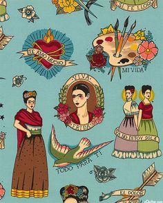 Todo Para Ti - Dusk Blue - Quilt Fabrics from www.eQuilter.com