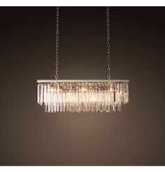 Odeon Clear Glass Fringe Rectangular Chandelier Finish: Grey Iron for Dining Room Dining Room Light Fixtures, Dining Room Lighting, Kitchen Lighting, Home Design, Design Design, Room Lights, Ceiling Lights, Photowall Ideas, Cupboard Lights