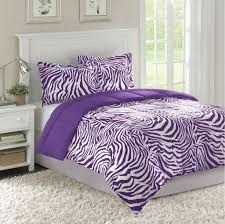 bedroom design large contemporary with purple unique zebra print bed comforter and cushion cover ideas #ZebraPrintBedding