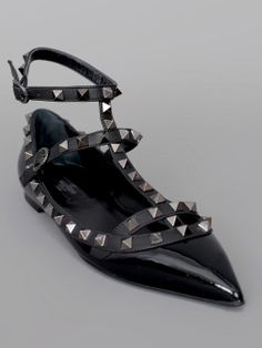 01a33c6238f Shop for Rock Star Studded Slingback Ballerina Flat Black by Valentino at  ShopStyle.