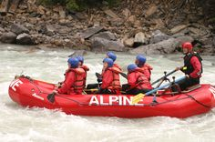 Whitewater rafting on the Kicking Horse River in BC