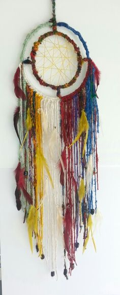 Color full large dream catcher  https://www.etsy.com/listing/195148687/dreamcatcher-lovely-bright-boho-spirit?ref=listing-4