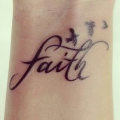 Faith birds wrist tattoo design