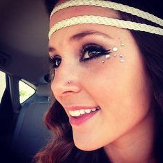 rave makeup rhinestones - Google Search